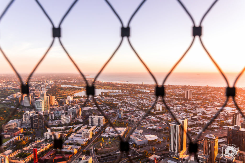 Foto Melbourne Sunset Skyline