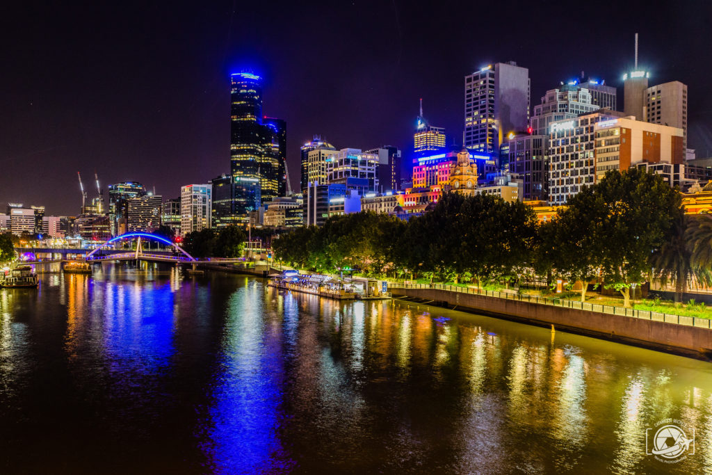 Foto Melbourne Skyline Night