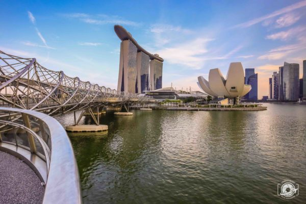 Foto panoramica di Singapore