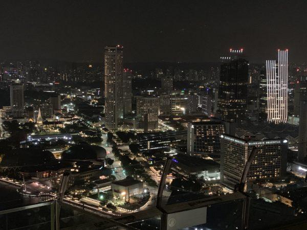Foto di Singapore in notturna, skyline